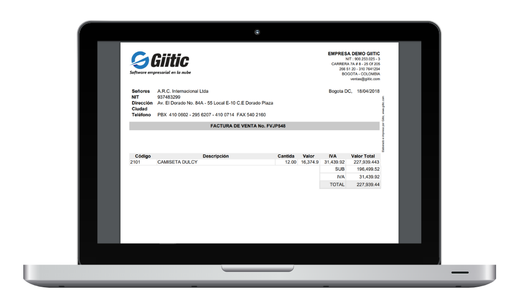 Sales order software  on Android or iPhone (tablet / smartphone) - Electronic Billing